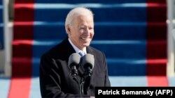 Джо Байден во время инаугурации. Вашингтон, 20 января 2021 года.