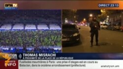 Պայթյունի պահը Փարիզի Ստադ դը Ֆրանս մարզադաշտի մոտ