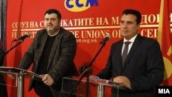 Средба на претседателот на ССМ Дарко Димовски и премиерот Зоран Заев
