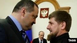 Сергей Меликов и Рамзан Кадыров, архивное фото
