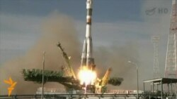 Soyuz Spacecraft Blasts Off For ISS
