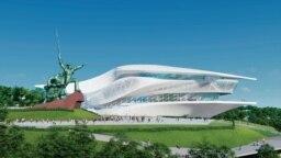 «Севастопольский государственный театр оперы и балета», спроектированных австрийской архитектурной фирмой Coop Himmelb (l) au, надеются открыть в 2023 году