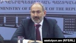 Премьер-министр Армении Никол Пашинян Ереван, 28 января 2021 г.