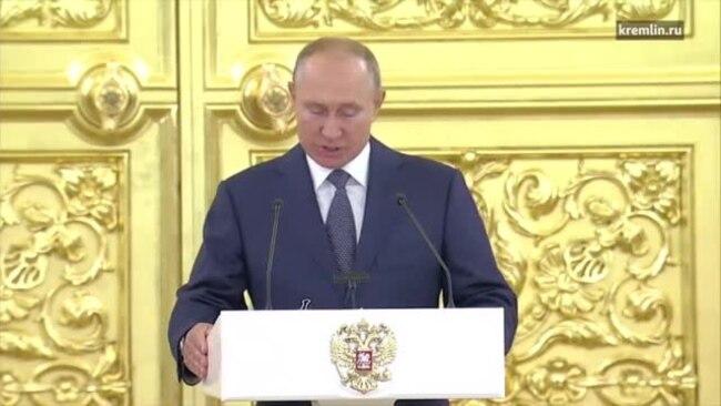 Путин на встрече с сенаторами
