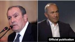 Հայաստանի առաջին և երկրորդ նախագահները` Լևոն Տեր-Պետրոսյանը (ձախից) և Ռոբերտ Քոչարյանը (աջից)