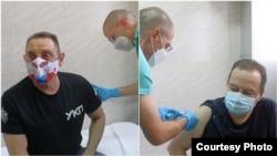 """Србија - Александар Вулин и Ивица Дачиќ ја примија вакцина """"Спутник V"""", во Белград. 6 јануари 2021 година."""