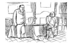 Петр и Алексей. 1933 г. - А где же вторая часть? Карикатура Николая Радлова.