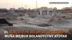 Jaý tapman, mazarystanda 'jaýlaşan' türkmen enesi