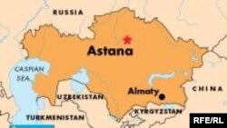 Kazakhstan -- Map, undated
