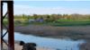 Крайние дома села Пролетарка расположены у берега озера Красное