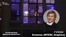 Гостей розважав чоловік, схожий на актора студії «Квартал-95» Степана Казаніна