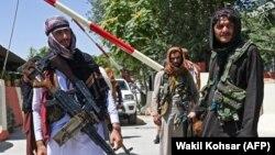 شماری از افراد گروه طالبان در کابل
