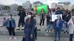 Türkmenler Aksaraýda Berdimuhamedowyň çekilmegine çagyryş etdiler