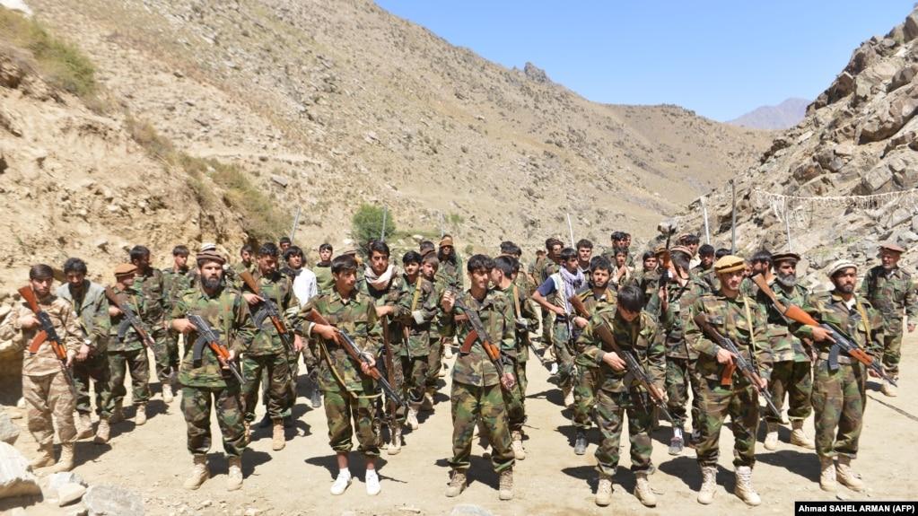 نیروهای جبهه مقاومت علیه طالبان در پنجشیر