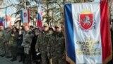Члены формирования «народное ополчение» Крыма