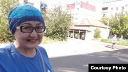 Блогер Айгүл Өтепова. Сурет Facebook-тағы парақшасынан алынған.