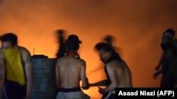 Zjarri në një spital në qytetin Nasiria të Irakut.
