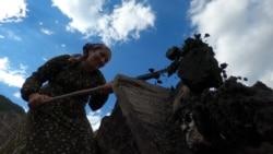 Dagesztánban a sókitermelés női munka