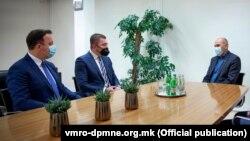 Александар Николоски, Христијан Мицкоски и Јанез Јанша на средба во Љубљана, јануари 2021