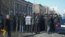 Վարորդների բողոքի ակցիան Գյումրիում