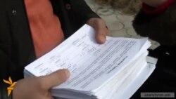 Վարչական դատարան հանձնեցին 5000-ից ավելի ստորագրություններով փաթեթ