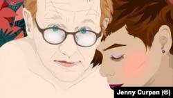 Петер Мадсен и Дженни Курпен. Рисунок Дженни Курпен
