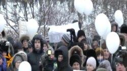 Митинг протеста в Красноярске