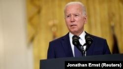 Președintele american Joe Biden în timpul declarațiilor de la Casa Albă. 26 august 2021