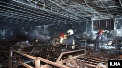 عکس خبرگزاری ایلنا از آتشسوزی در مشهد