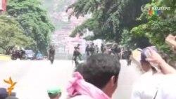 Каракас полицияси намойишчиларга қарши кўздан ëш чиқарувчи газ қўллади