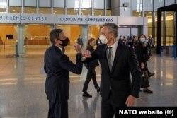Secretarul general al NATO, Jens Stoltenberg, și secretarul de stat al SUA, Antony J. Blinken
