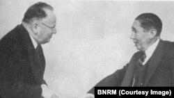 N. Titulescu și M. Litvinov la Montreux, 1936