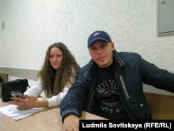 Лия и Артем Милушкины в суде после задержания перед митингом, 2018 год