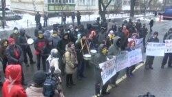 Kiyevdə ölkə prokurorluğunun binası qarşısında azadlıq tələbi
