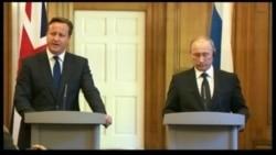 Владимир Путин в Лондоне перед саммитом G8 раскритиковал решение США вооружать сирийских повстанцев