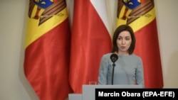Maia Sandu după întâlnirea cu președintele Poloniei, Varșovia, 21 iunie 2021