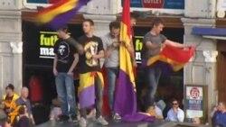 Акция антимонархистов в Испании