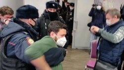 Opposition, NGO Event Broken Up In Moscow, Dozens Detained