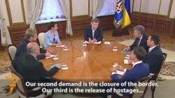 Petro Poroșenko despre situația din Ucraina de est