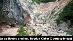 Pripremni radovi na izgradnji hidroelektrane Ulog na rijeci Neretvi.