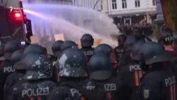 La Hamburg au continuat protestele antiglobalizare